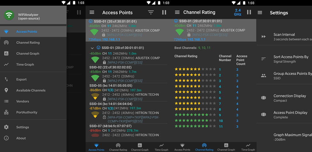 WiFiAnalyzer | Android application to analyze WiFi signals